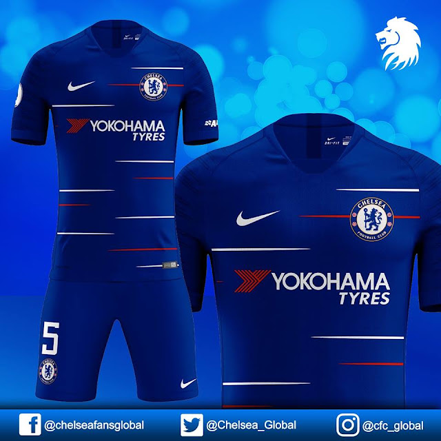 Chelsea FC Dream League Soccer Kits - 2018/2019 - Superblogz com