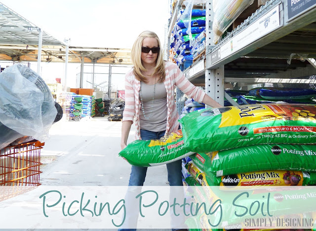 Potting Spoil, DIY Flower Tower, Home Depot #sponsored #digin #heartoutdoors #spring