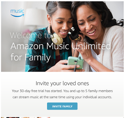 Amazon Music Unlimited family plan subscription