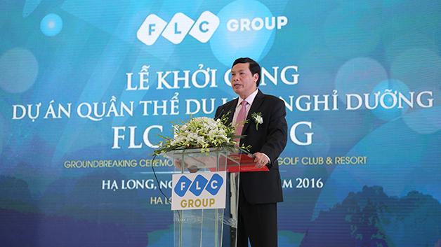 Ông Nguyễn Đức Long, Phó Bí thư Tỉnh ủy, Chủ tịch UBND tỉnh phát biểu tại Lễ Khởi công