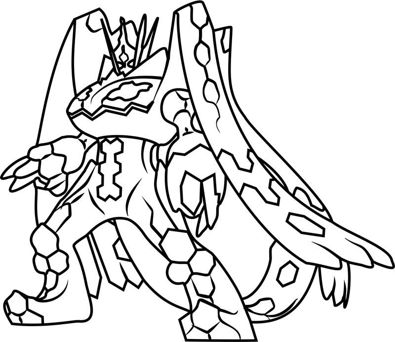 Zygarde Complete Forme Coloring Page - Free Printable ...