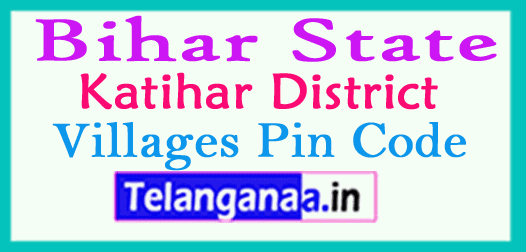 Katihar District Pin Codes in Bihar State