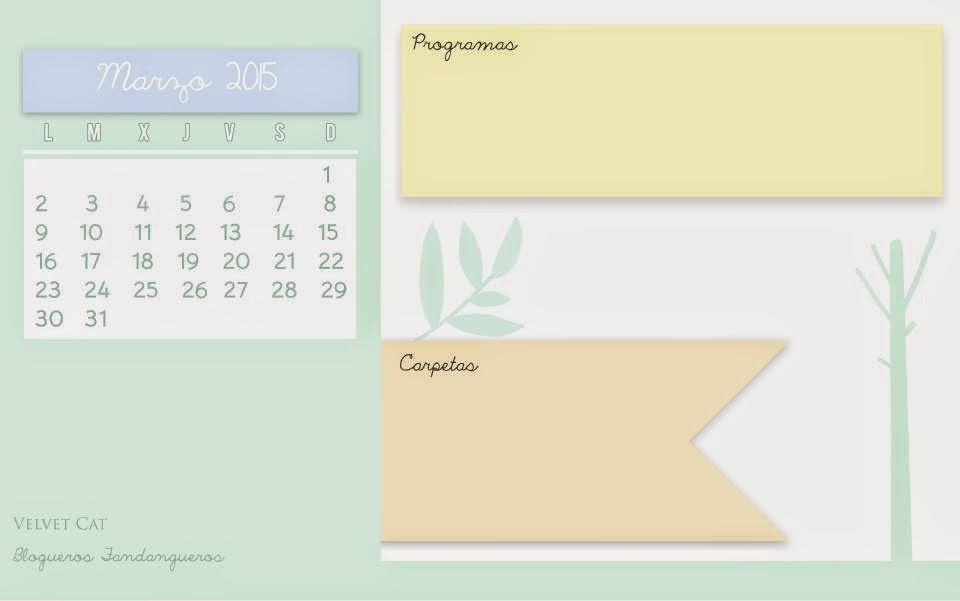 Calendarios para Marzo