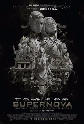 Poster Film Supernova: Ksatria, Putri & Bintang Jatuh