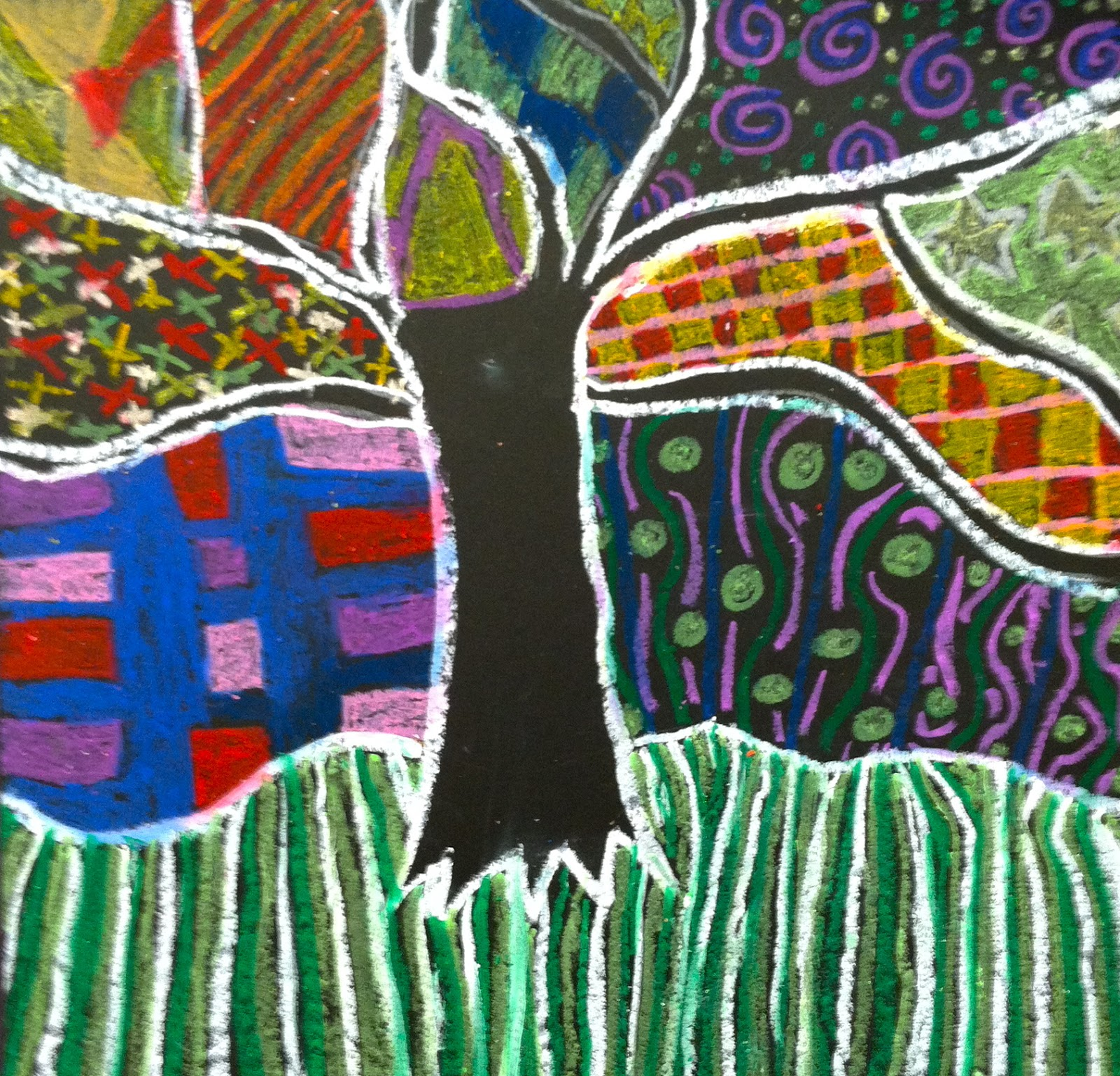 Olive Art Do You Pattern Trees In Oil Pastel