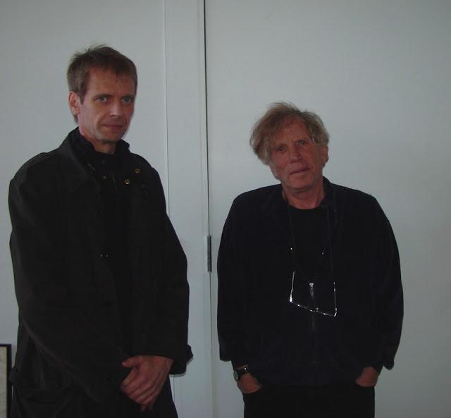 Klaus Guingand &  Dennis Oppenheim - 2007 - New York - USA. At, Dennis Oppenheim © Muriel Bonel