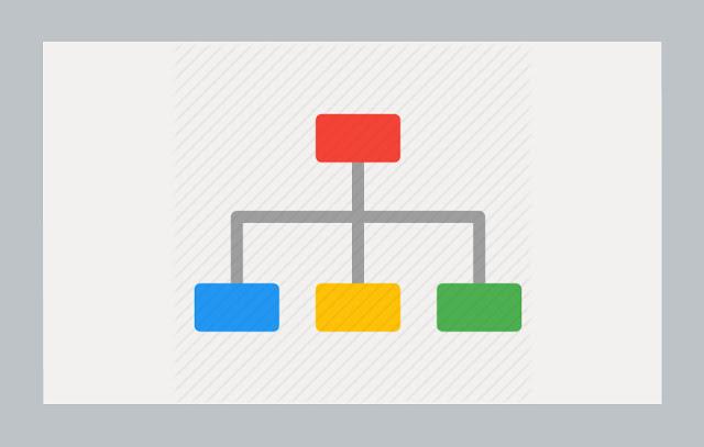 sitemap flat icon, sitemap flat design