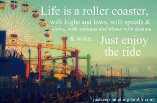 Life is a roller coaster - Happiness quotes