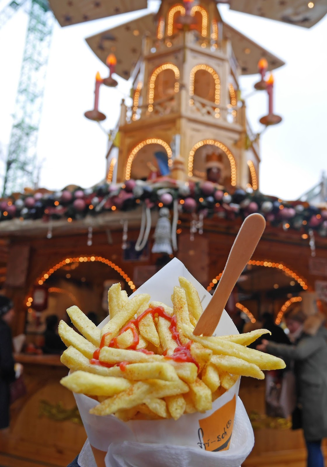 Chips at the Munich Christmas Markets
