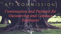 RTI Commission Continuation Salaries