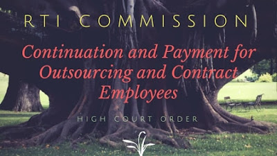 RTI Commission Continuation Salaries