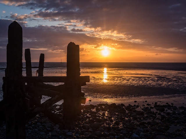 Photo of sunset from the shore at Maryport
