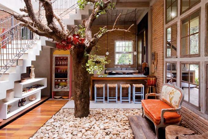 Jardins interiores - Casas de campo por dentro ...