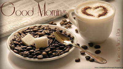 Good Morning With Cup of Coffee with friends