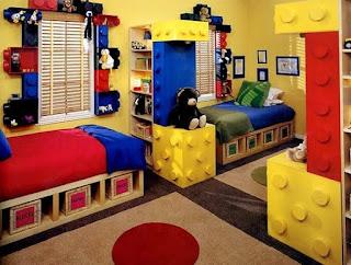lego wallpaper - Lego bedroom decorating ideas