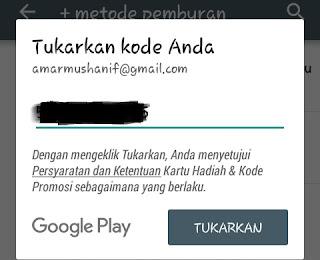 Redeem Code Google Play
