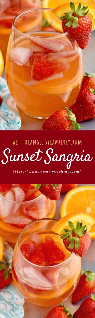 Sunset Sangria #cocktailrecipe #easy