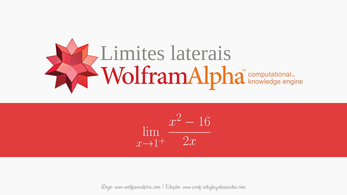 Calcule limites laterais online com este Widget