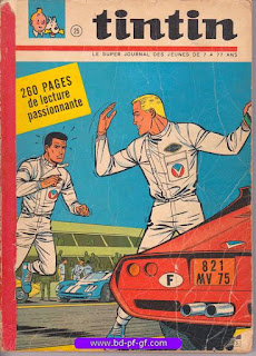 Tintin recueil souple, numéro 25, année 1966, à restaurer