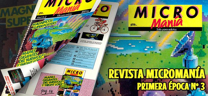 Revista Micromanía Primera época Número 3 1985