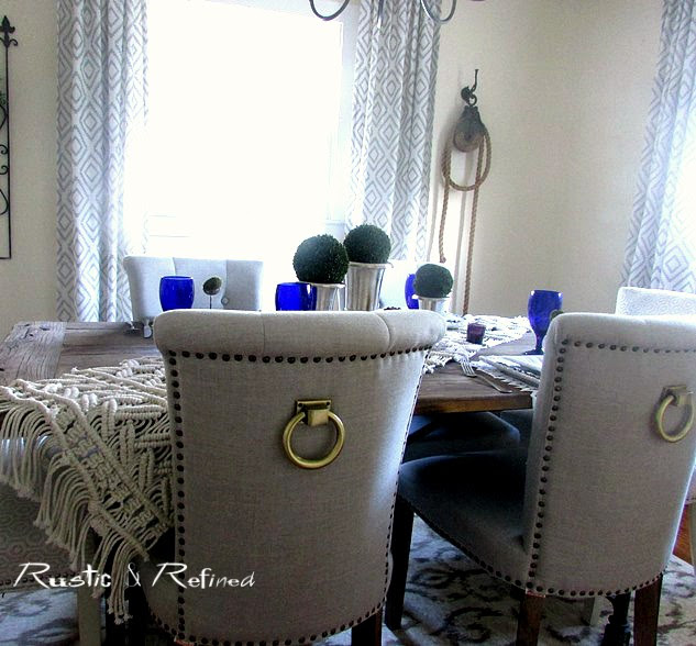 Dining Table set with boho chic style for entertaining