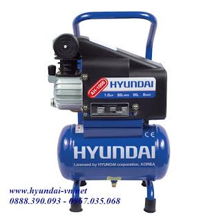 Máy nén khí mini, máy bơm hơi trực tiếp, máy bơm hơi Hyundai, máy nén khí hyundai AH-1006