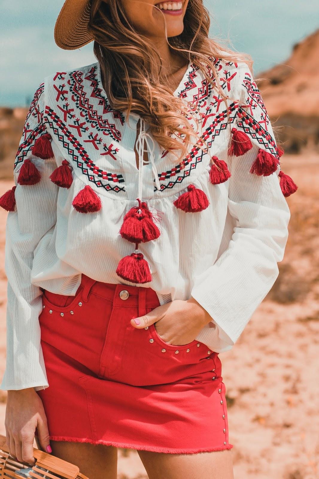 blusa étnica