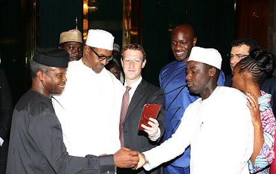 Facebook Founder, Mark Zuckerberg Visits President Muhammadu Buhari