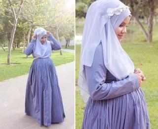 Contoh Baju Muslim Modis Untuk Bumil (Ibu Hamil)