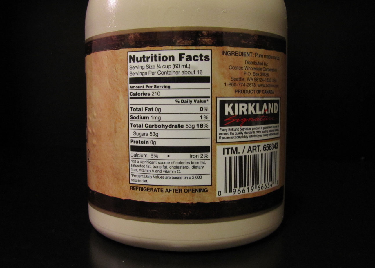 Maple Syrup Nutrition Label Photos Download Jpg Png Gif Raw Tiff Psd Pdf And Watch Online