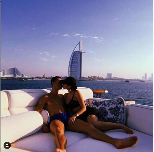 Ronaldo Ends Year In Style By Locking Lips With Georgina Rodriquez In Dubai