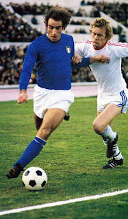 Francesco Graziani in action for  the Italy national team
