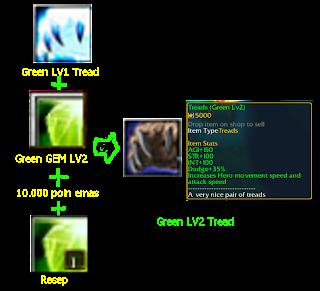 green LV2 tread defend konoha