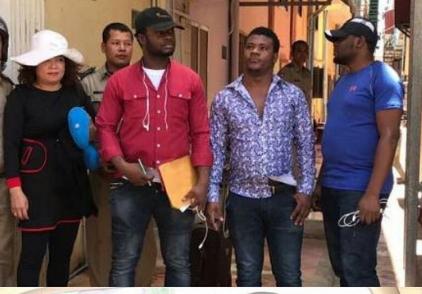 3 nigerians Vietnamese arrested cambodia
