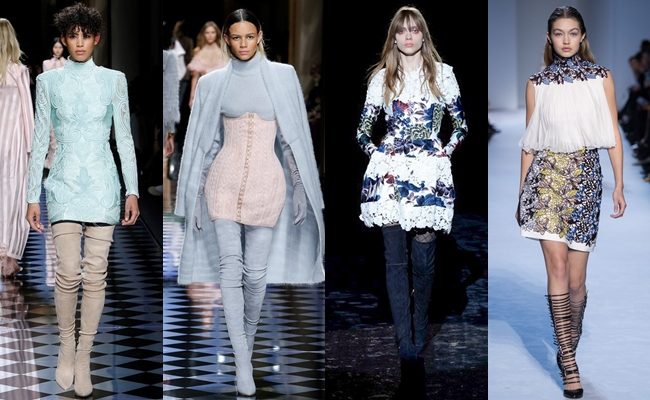 Best of PARIS Fashion Week Fall 2016.Paris fw fall 2016:Balmain,Emanuel Ungaro,Giambattista Valli.