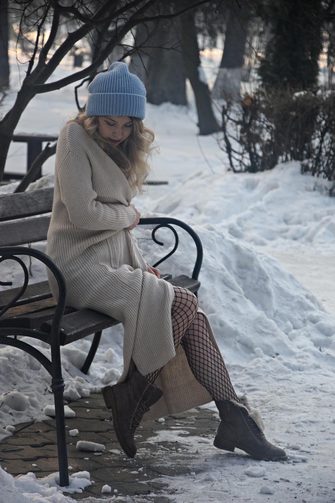 Cardigan tricotat de lana crem