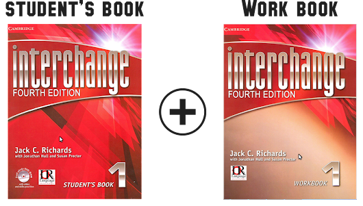Interchange 1 Fourth Edition students book and work book
