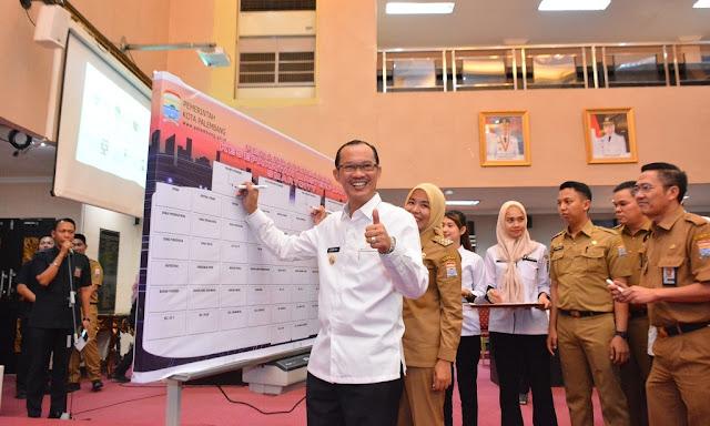Pemerintah Kota Palembang  Launching Aplikasi Hallo Palembang.