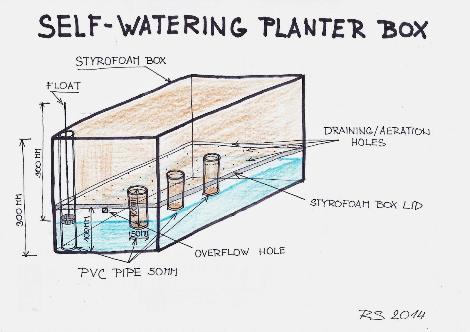 Make Self Watering Planters Spurtopia Our Sustainable Living Story Spurtopia S Invention