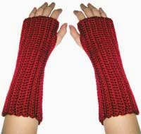 free crochet wrist warmer patterns