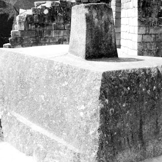 Intihuatana, no Setor Urbano de Machu Picchu