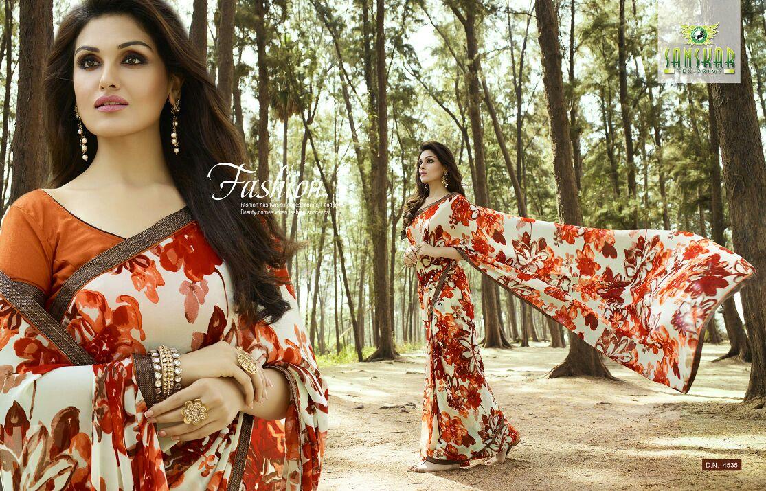 ISHITA – 3- Latest fashion Georgette Printed  Sarees  Online