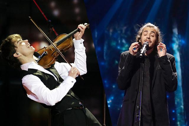Alexander Rybak y Salvador Sobral durante sus actuaciones en Eurovisión representando a Noruega y Portugal