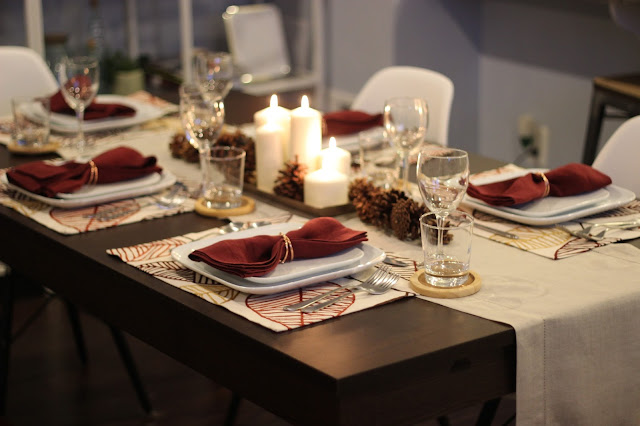 Thanksgiving tablescape table setting