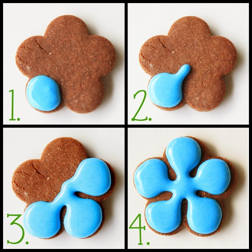 5 petal flower cookie