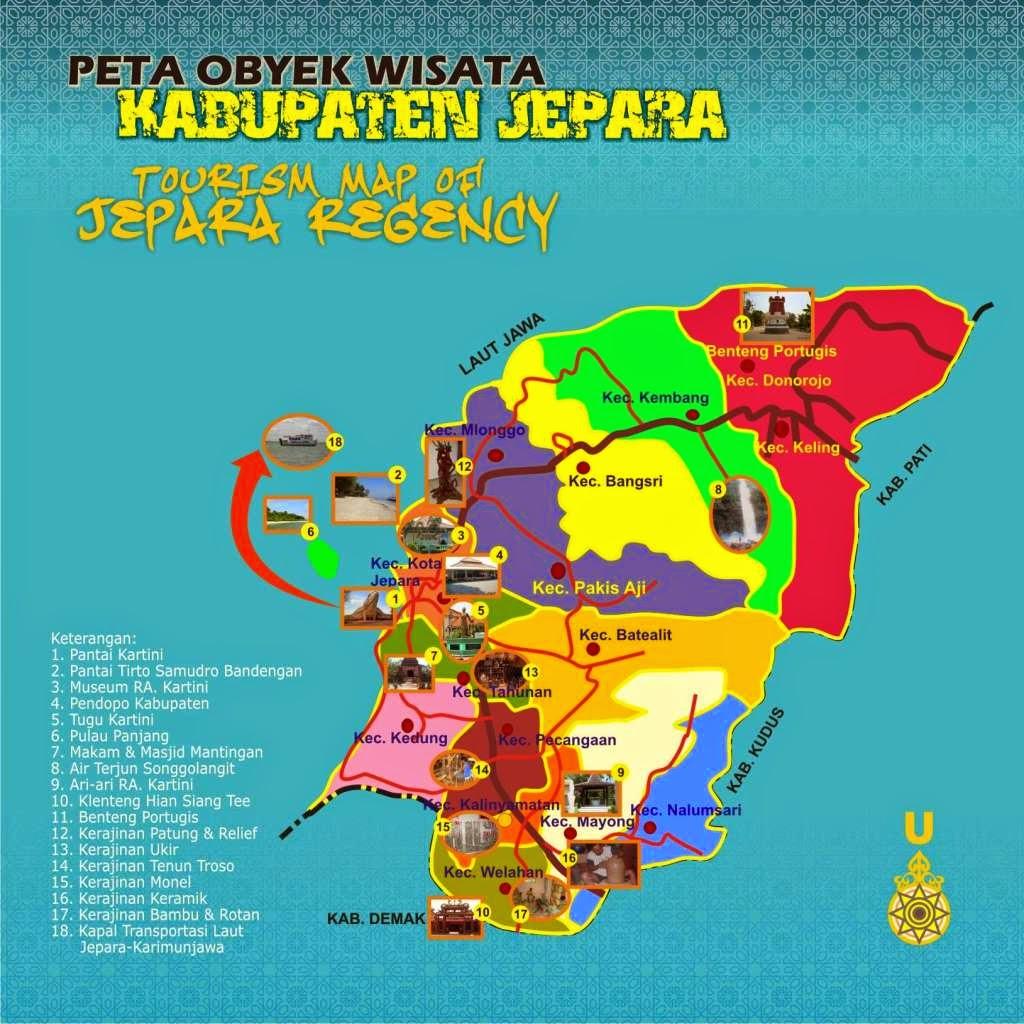 tourist map kabupaten jepara