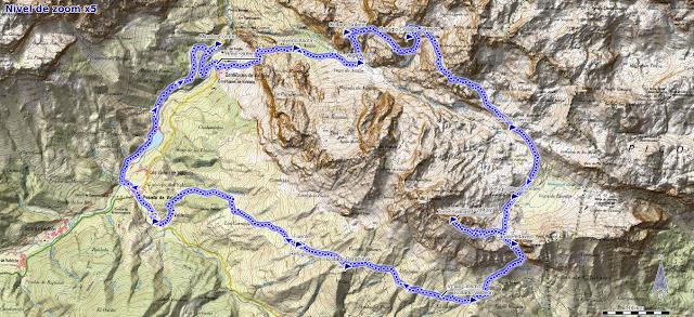 Mapa ruta Collado Jermoso y Torre de Salinas