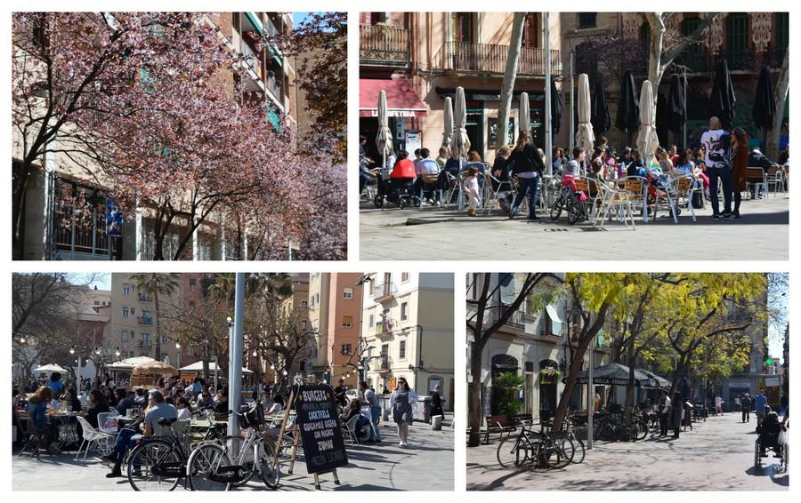 photos des terrasses de Barcelone