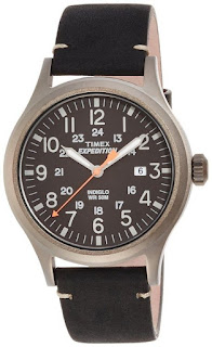Timex TW4B01900 Mens Expedition Analog Elevated Black Leather