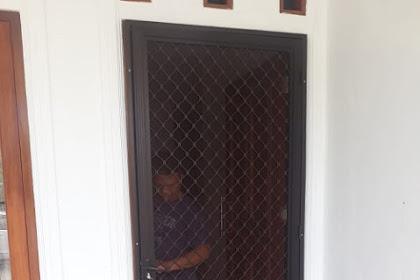Pintu Expanda Alumunium pemasangan di Rumah Bpk Ricshon Tapos Depok